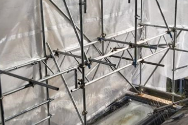 Temporary Roof Scaffolding, Chelsea